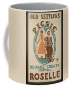 Vintage Poster Old Settlers Picnic Coffee Mug