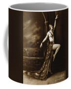 Vintage Poster Posing Dancer In Costume Coffee Mug