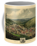 Vintage Pottsville Pennsylvania Etching With Remarque Coffee Mug