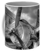 Vintage Prop - Black And White Coffee Mug