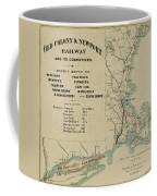 Vintage Railway Map 1865 Coffee Mug