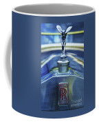Collectible Logo And Emblem On A Vintage Rolls Royce Coffee Mug