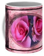 Vintage Rose Bud Plate Frame Painting Coffee Mug
