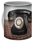 Vintage Rotary Phone Coffee Mug