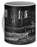 Vintage Sawmill In Black And White Coffee Mug
