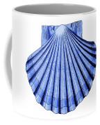 Vintage Scallop Shell Blue Coffee Mug