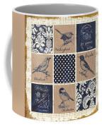 Vintage Songbird Patch 2 Coffee Mug