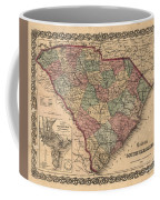 Vintage South Carolina Map Coffee Mug