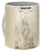 Vintage Space Suit Patent Coffee Mug