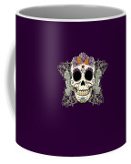 Vintage Sugar Skull And Flowers Coffee Mug