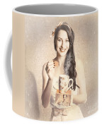 Vintage Tea Advertisement Pin-up Coffee Mug