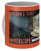 Vintage Thomas Edison Print - The Vitascope Coffee Mug