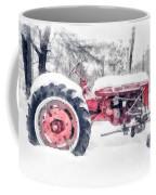 Vintage Tractor Christmas Coffee Mug