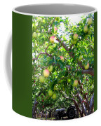 Vintage Tractor In Apple Orchard Coffee Mug by Will Borden