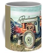 Vintage Tractors Pei Square Coffee Mug