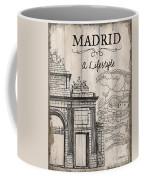 Vintage Travel Poster Madrid Coffee Mug