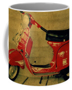 Vintage Vespa Scooter Red Coffee Mug