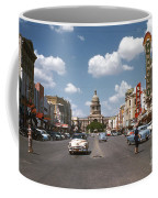 Vintage View Downtown Austin Looking Up Congress Avenue In Front Coffee Mug