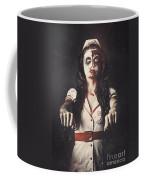 Vintage Walking Dead Horror Nurse Coffee Mug