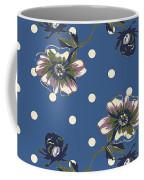 Vintage Wallpaper Seamless Rose Flower Pattern On Circles Polka  Coffee Mug