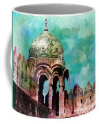 Vintage Watercolor Gazebo Ornate Palace Mehrangarh Fort India Rajasthan 2a Coffee Mug