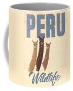 Vintage Wild Life Travel Llamas Coffee Mug