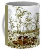 Vintage Winter Car Wreck Coffee Mug