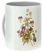 Viola Tricolour  Coffee Mug by Pierre Joseph Redoute
