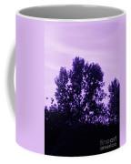 Violet And Black Trees  Coffee Mug