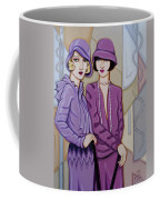 Violet And Rose Coffee Mug