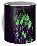 Violet Dream On Green Coffee Mug