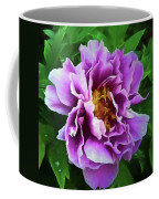 Violet Peony Coffee Mug