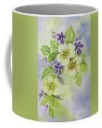Violets And Wild Roses Coffee Mug