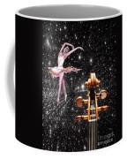 Violin And Ballet Dancer Number 1 Coffee Mug