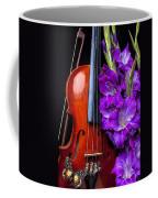 Violin And Purple Glads Coffee Mug