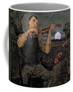 Violin Player To The Moon Coffee Mug