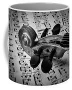 Violin Scroll On Sheet Music Coffee Mug