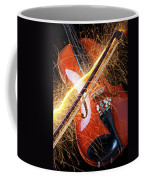 Violin With Sparks Flying From The Bow Coffee Mug by Garry Gay