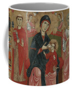 Virgin And Child Enthroned With Saints Leonard And Peter And Scenes From The Life Of Saint Peter Coffee Mug