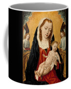 Virgin And Child With Two Angels Coffee Mug