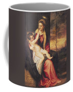Virgin With Child At Sunset Coffee Mug by Titian