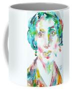 Virginia Woolf Watercolor Portrait Coffee Mug