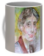 Virginia Woolf - Watercolor Portrait.7 Coffee Mug
