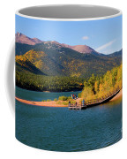 Visitors At Pikes Peak And Crystal Reservoir Coffee Mug