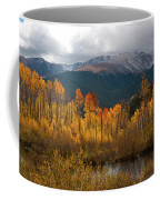 Vivid Autumn Aspen And Mountain Landscape Coffee Mug by Cascade Colors