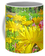 Vivid Colorful Yellow Daisy Flowers Daisies Baslee Troutman Coffee Mug