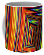Vivid Geometric Lines Coffee Mug