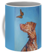 Vizsla And The Butterfly Coffee Mug