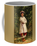 Vladimir Yegorovich Makovsky Russian 1846  1920   Ukrainian Girl, 1898 Coffee Mug