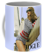 Vogue, Coco Chanel, Vintage Nautical Look, Yatching Coffee Mug